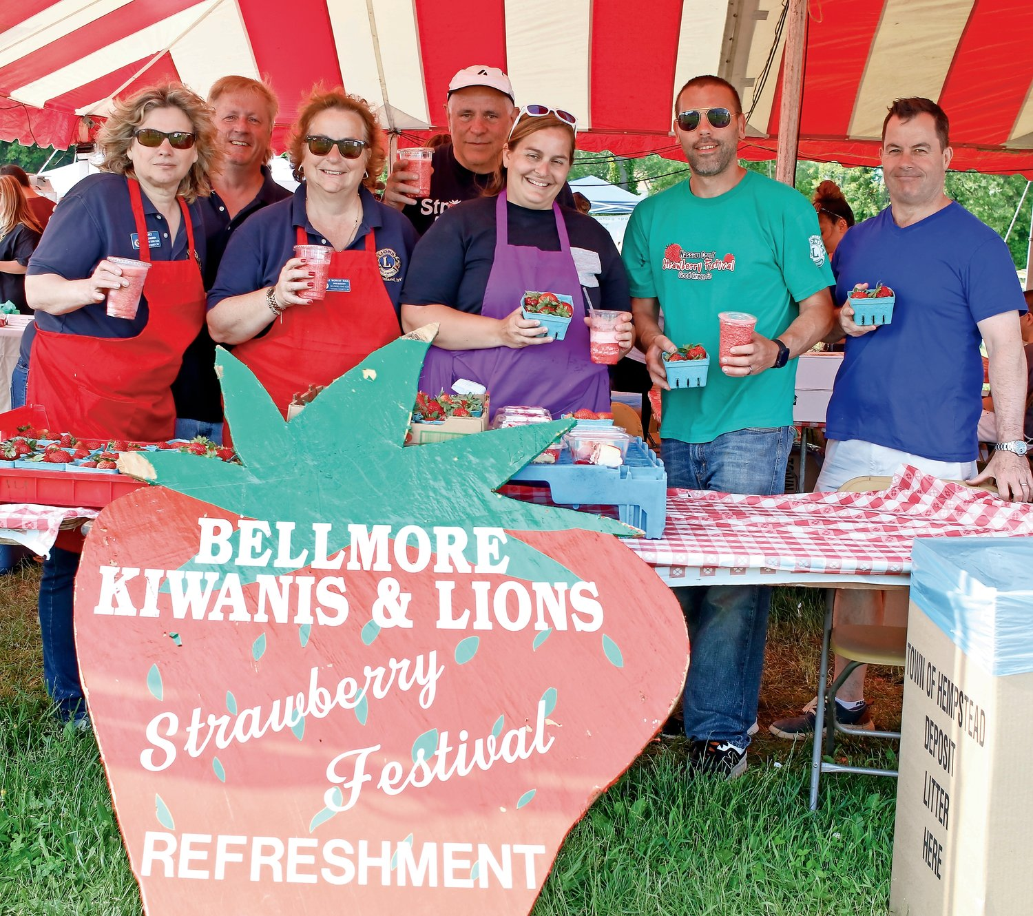 The annual Bellmore Strawberry Festival wouldn't be possible without members of the Kiwanis and Lions clubs.