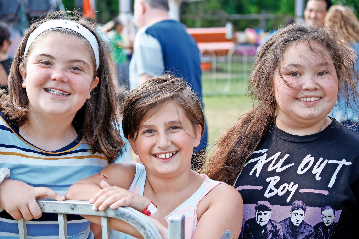 There were plenty of rides and games to enjoy at the festival. Calleigh Harten, 10, Rhea Likoka, 9, and Jade Glass, 10 said their favorite so far was the Gravitron.