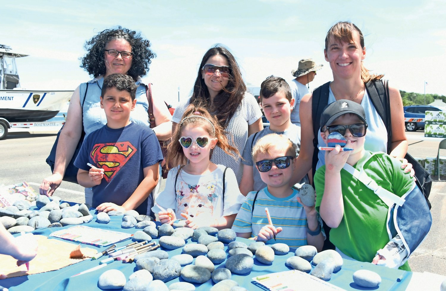 Rock decoration, courtesy of the Glen Cove Youth Bureau, was a big hit at Kids Play Day.