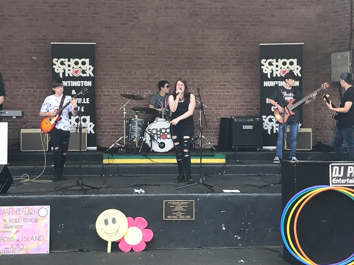 Students from the School of Rock performed for attendees.