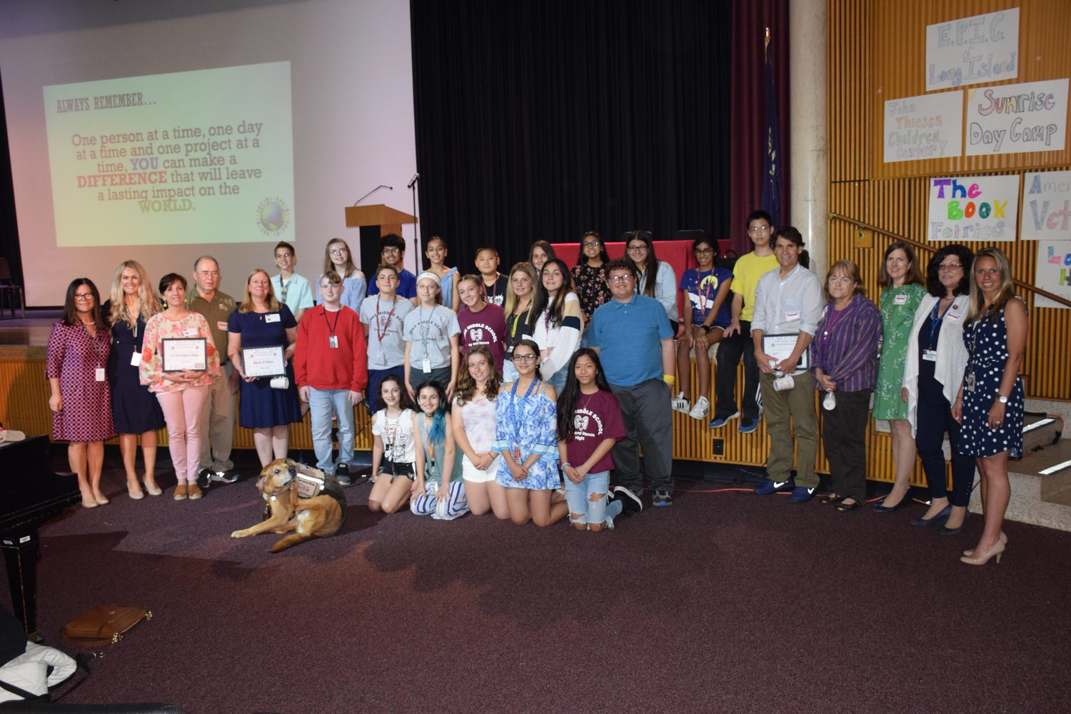 The service learning club at W.T. Clarke Middle School in Salisbury hosted its annual Change for Change Giving Ceremony on May 31.