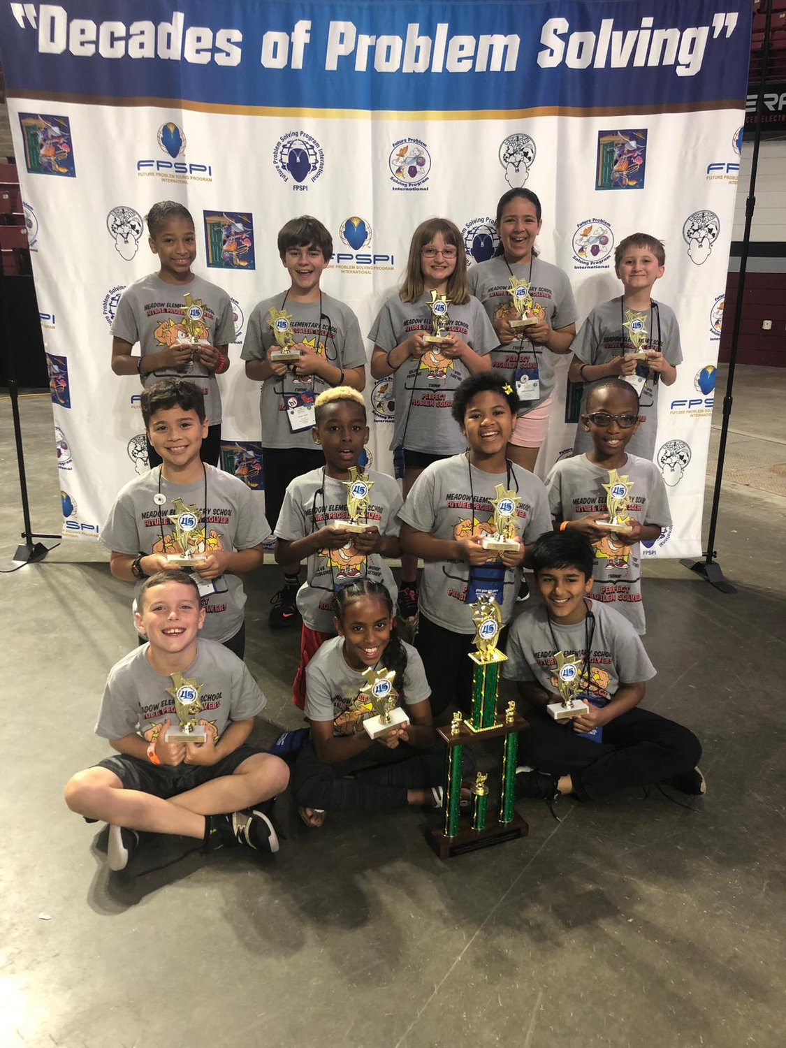 A group of Meadow Elementary School students won second place in the international competition of the Future Problem Solving Bowl this past weekend.