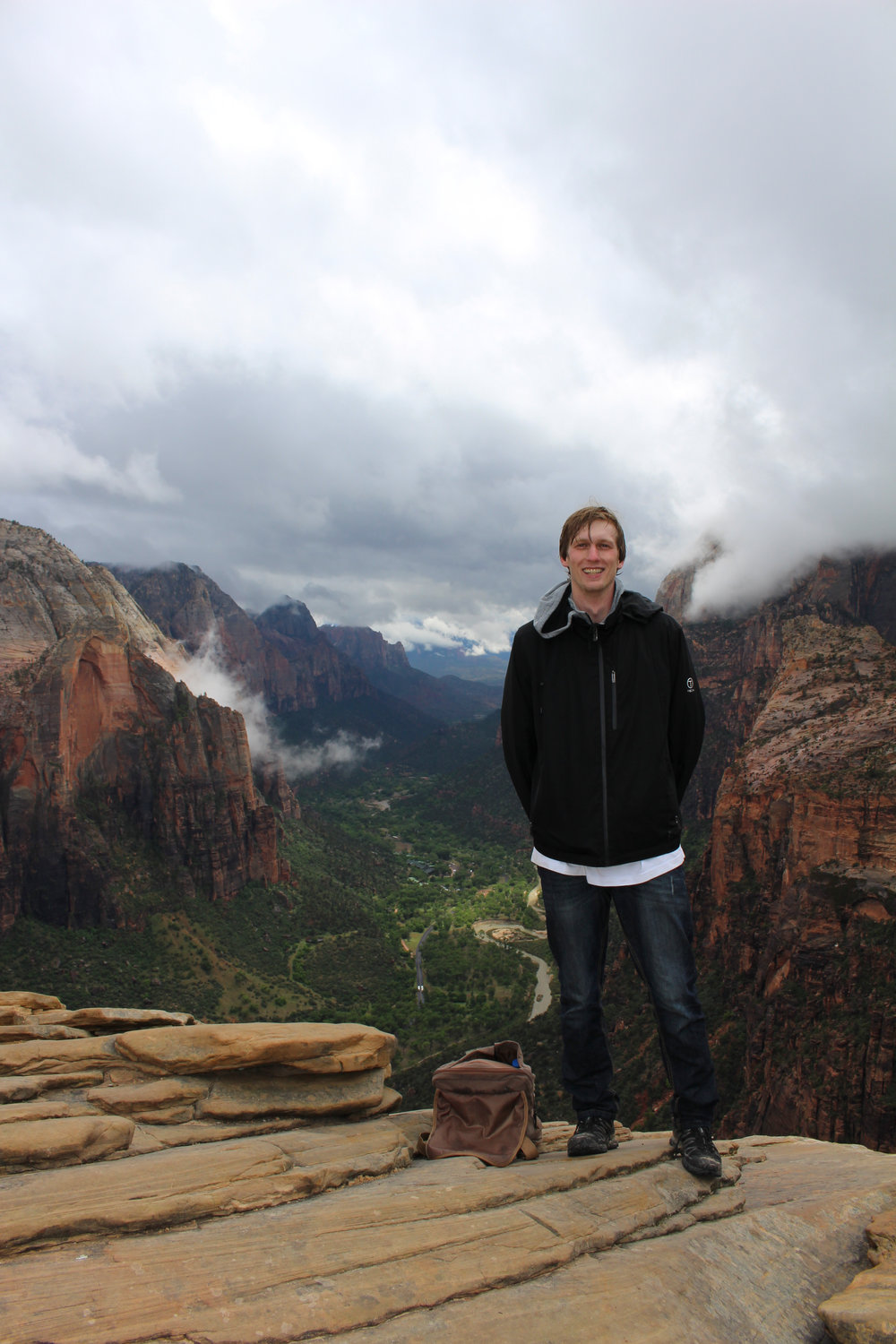 Koch visited the Angels Landing trail in Zion National Park in Utah last month.
