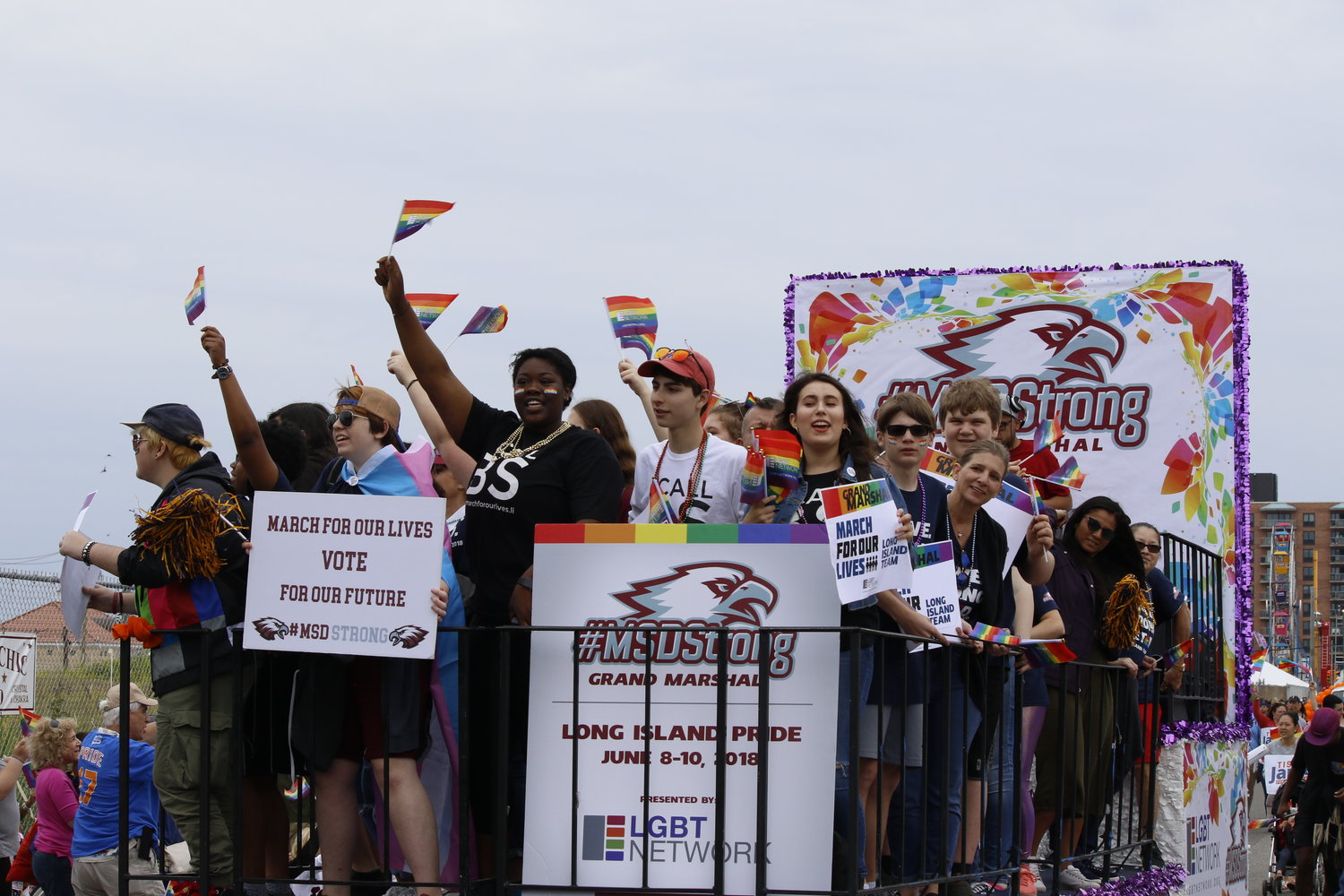 About 7,000 people took part in last year's Pride Parade, including 25 survivors of the shooting at Marjory Stoneman Douglas High School in Parkland, Fla., who served as grand marshals in honor of Long Island native Scott Beigel, a teacher at the school who died saving his students.