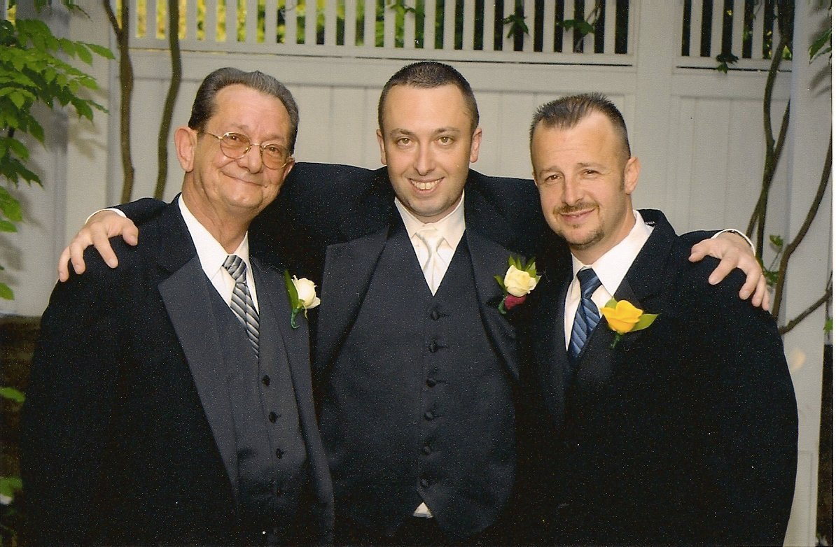 Hachemeister, left, with his two sons, Joe and Robert Jr.
