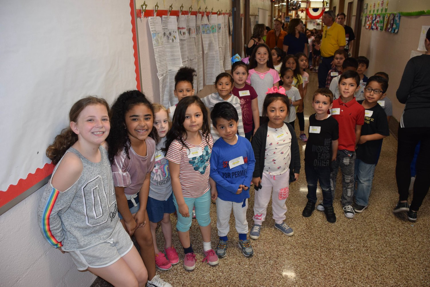 Third graders at Cornwell led the tours for kindergarten students from Chestnut Street