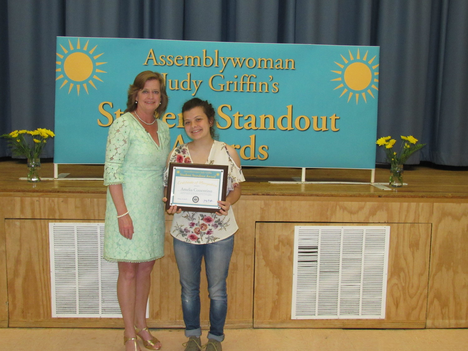 Valley Stream North High School student Amelia Cossentino, of Malverne, was also awarded.