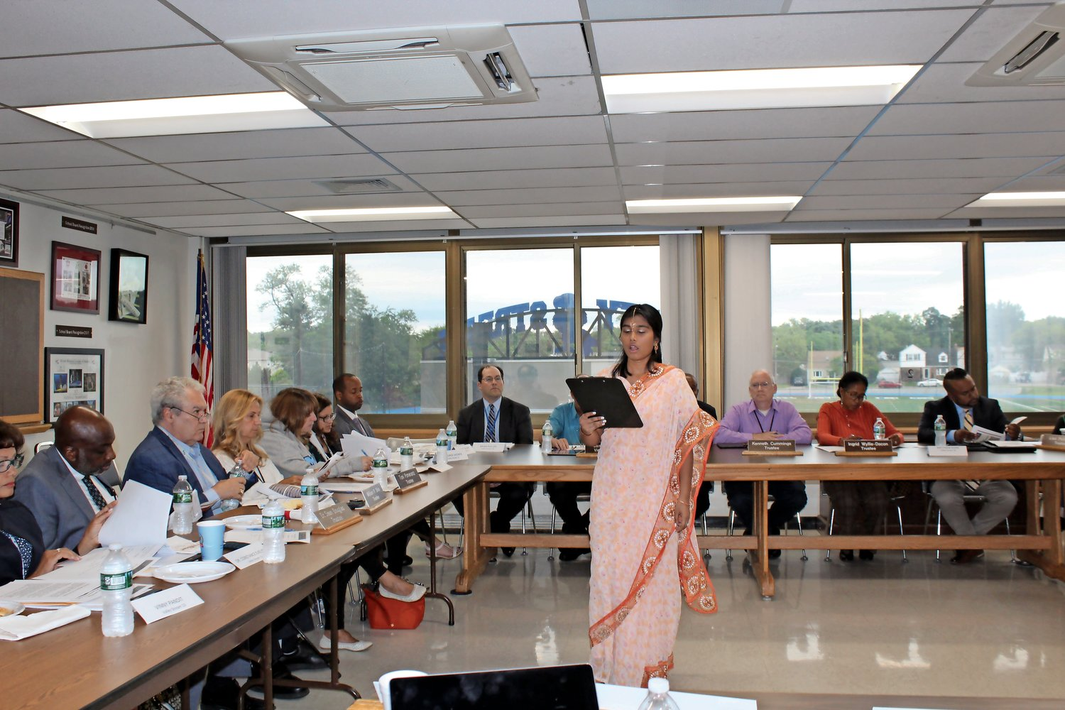 Devi Arjune asked members of all four Valley Stream Boards of Education to consider adding Diwali to the school calendar.