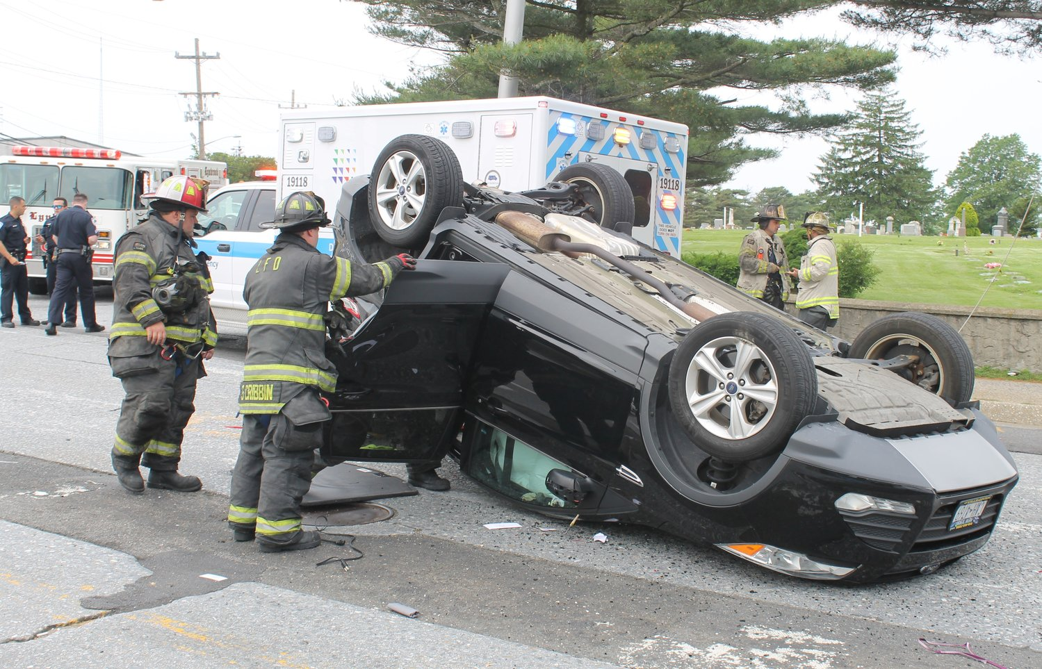 For the second time in two days, Lynbrook emergency personnel responded to an overturned vehicle in the village.