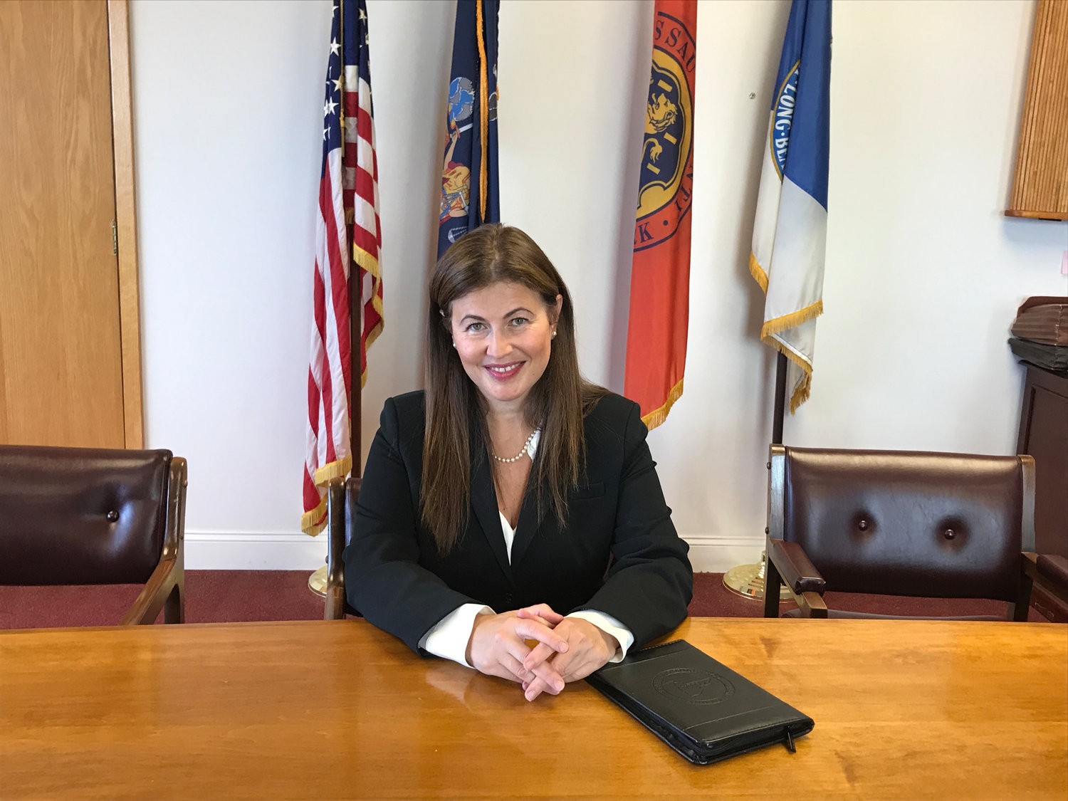 Inna Reznik, a vice president of finance at Nassau Community College, has been selected by the city as its new comptroller.