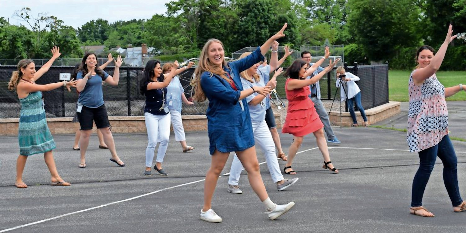 "Last year, Nimmo had Glen Head parents and faculty organize a flash mob dance routine during a ""fire drill,"" to the surprise of students."