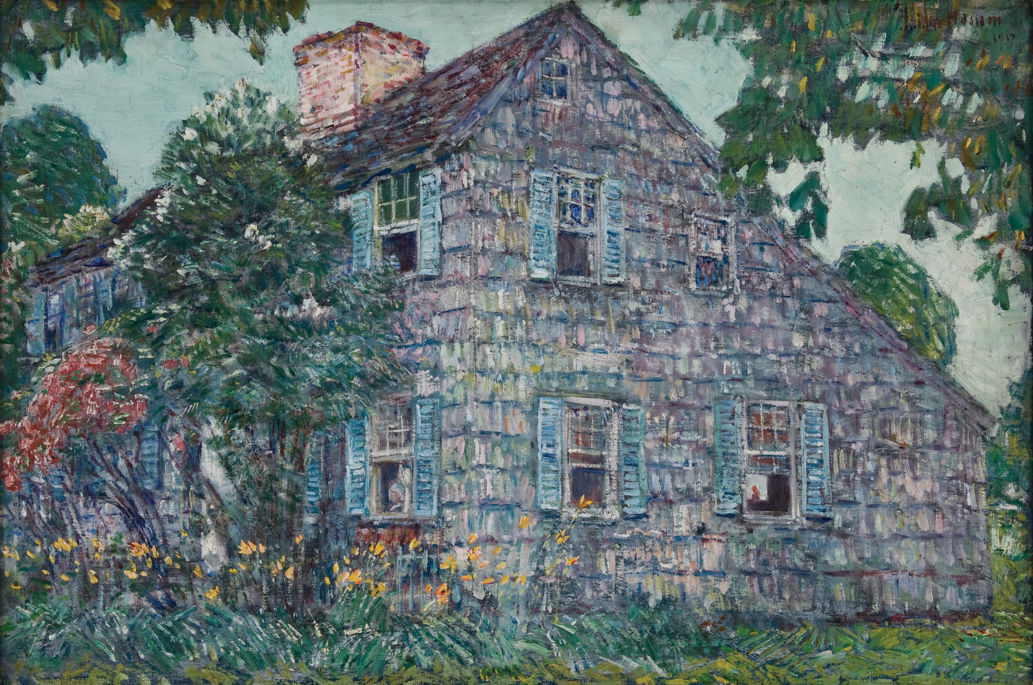 "Childe Hassam, ""Old House, East Hampton,"" 1917, Bank of America Collection"