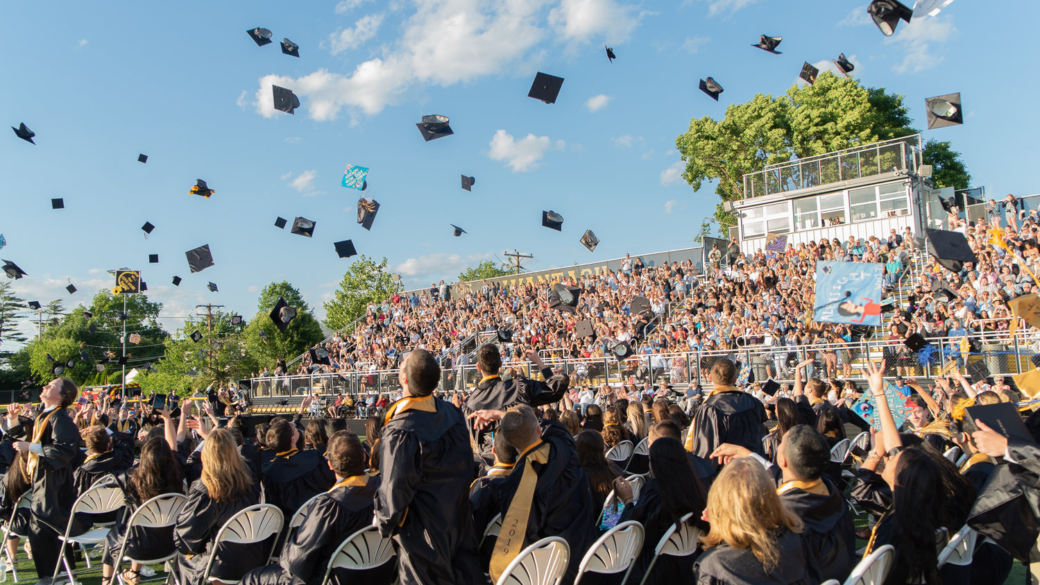 Wantagh High School graduates celebrated the traditional way at the end of the graduation ceremony on June 14.