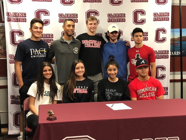 W.T. Clarke High School seniors announced their intent to continue an athletic career at the collegiate level on May 30.