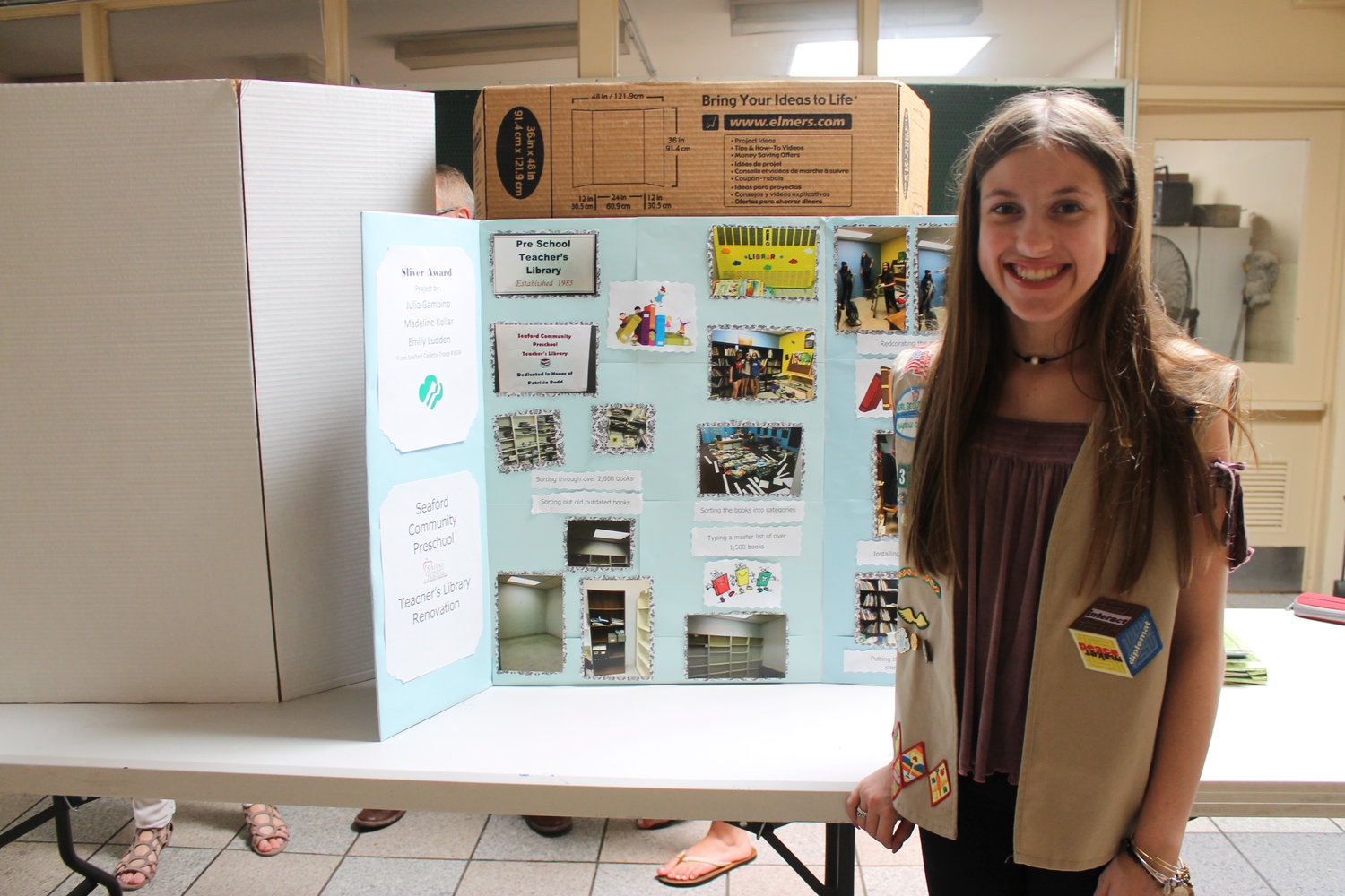 Seaford High School sophomore Madeline Kollar when she was 14. Now 16, she was recently selected a national delegate for the Girl Scouts.