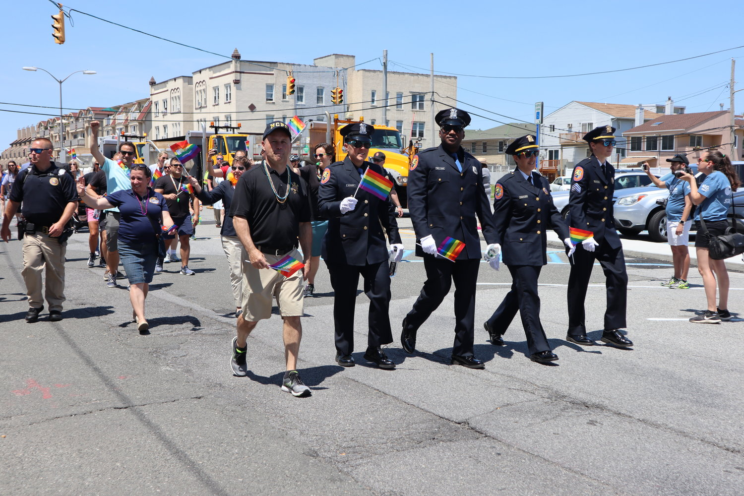 Members of the Nassau County Police Department marched in the Pride Parade.