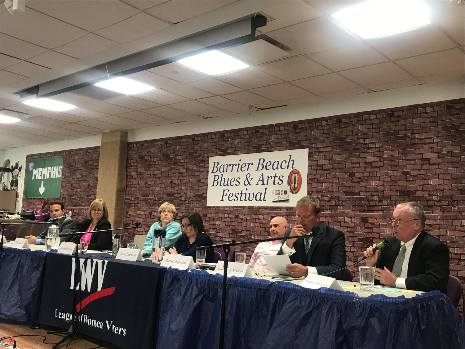 Seven candidates running in the June 25 Democratic primary fielded written questions at the June 12 candidates forum.