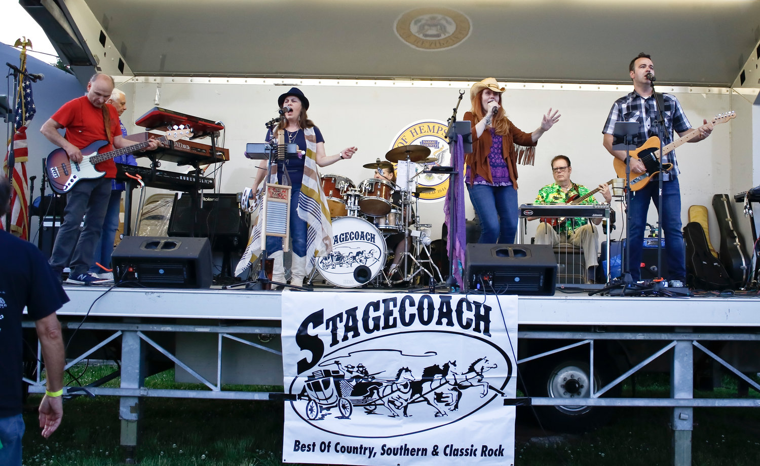 Musical entertainment provided by Stagecoach got the crowd up and dancing.