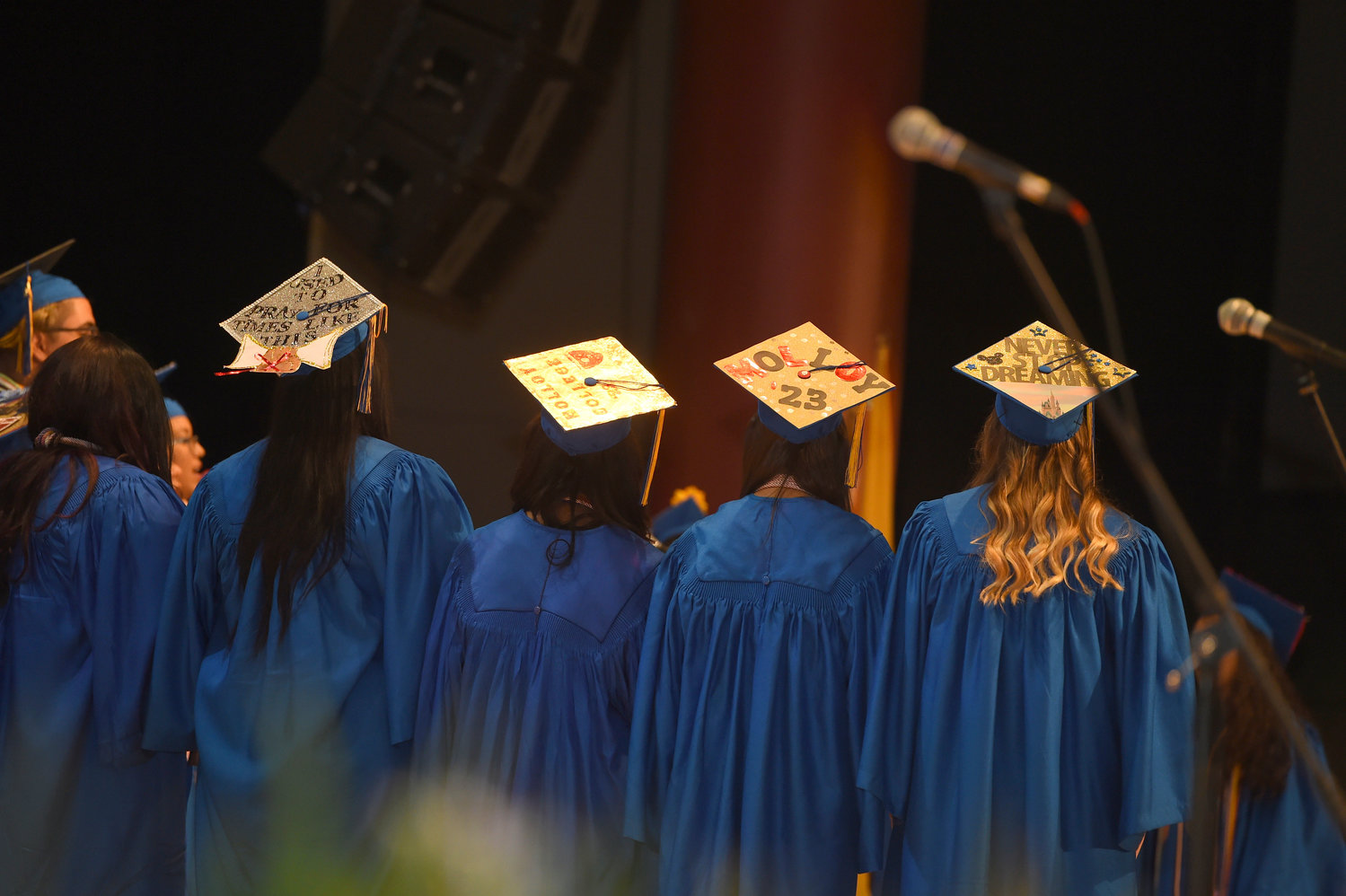 Lawrence High School seniors creatively illustrated their sentiments as they graduated on June 24.