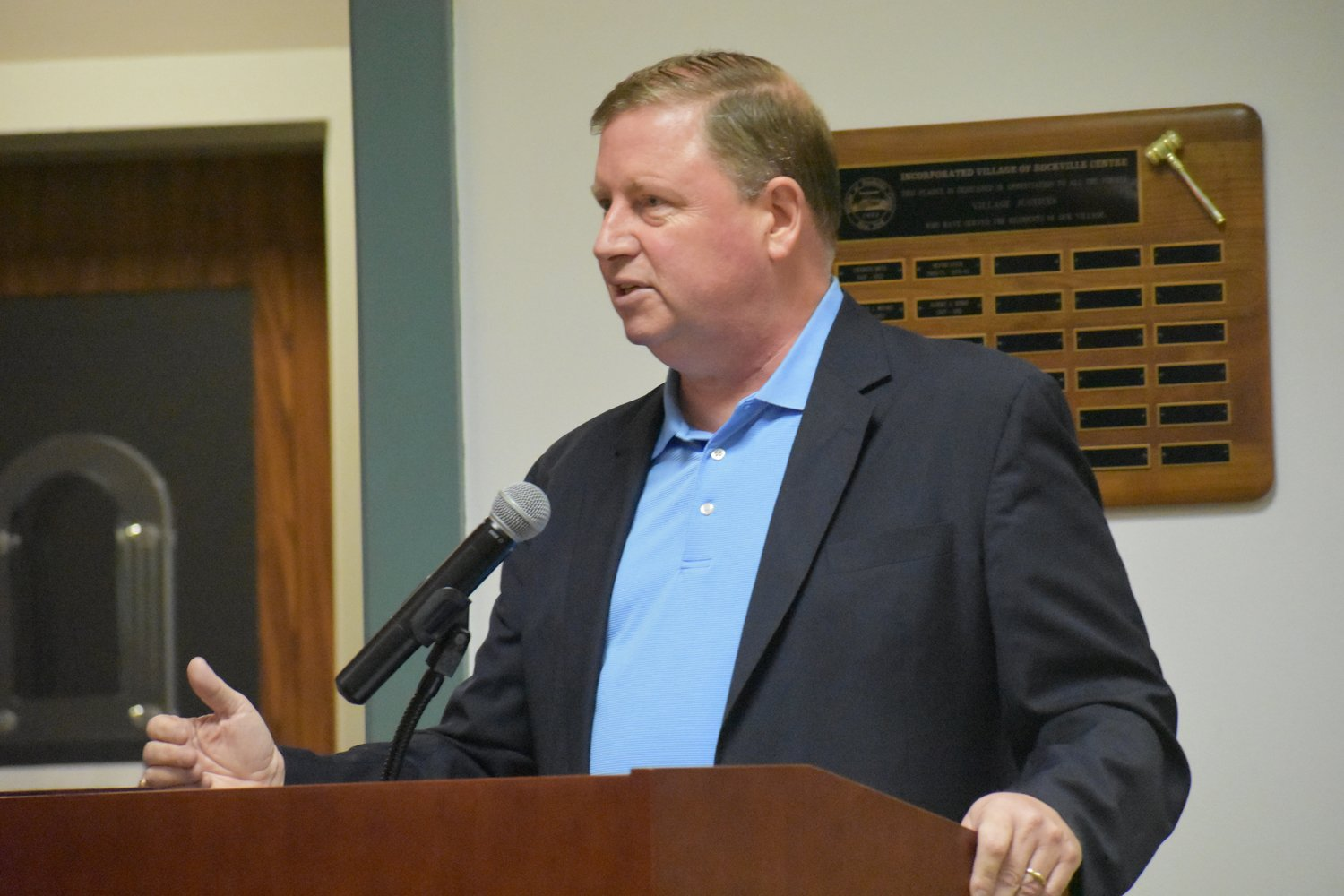 Michael Mulhall said he would dismiss the board members if he was an elected official.
