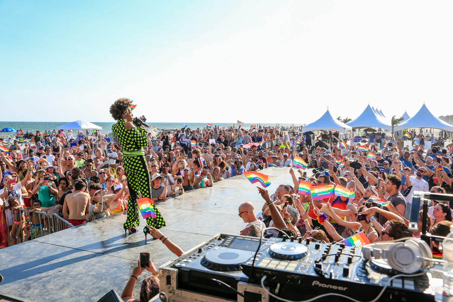 Grammy-Winning Macy Gray headlined the beach concert at the 3rd annual Pride on the Beach event.