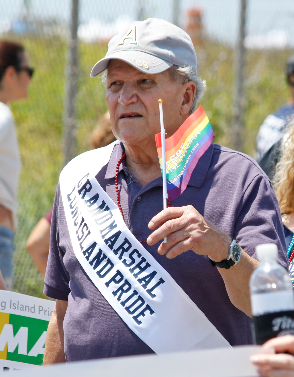 Lucian Truscott, an activist and veteran of the Stonewall Inn uprising, was one of the parade's grand marshals.