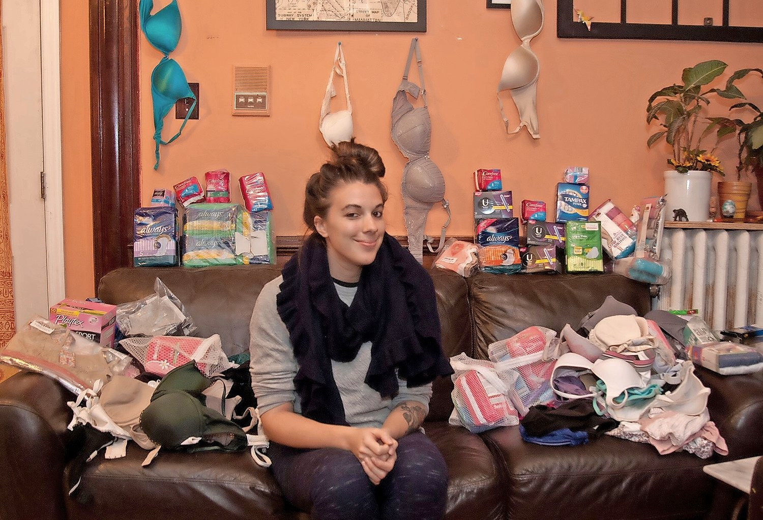Alexa Telano, a Mepham High School graduate, is helping women by supplying them with feminine hygiene products through Dignity Matters.