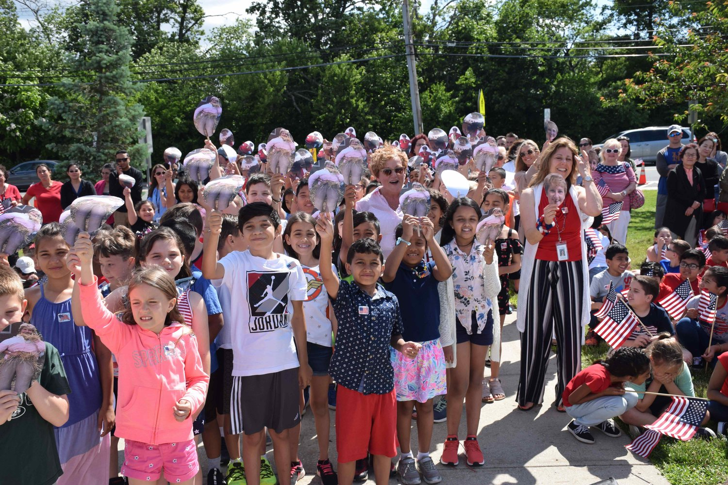 Meadowbrook Elementary School students and community members gathered on June 14 to honor Assistant Principal Gail Gallucci with a surprise ceremony.