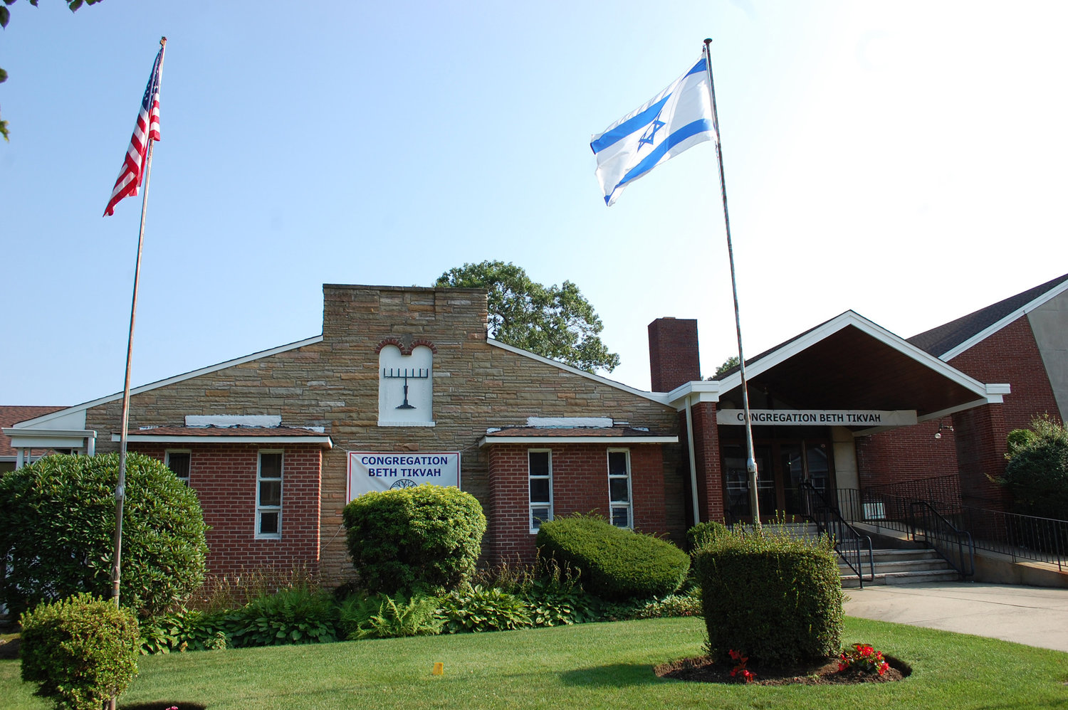Congregation Beth Tikvah is located in Wantagh along Woodbine Avenue.