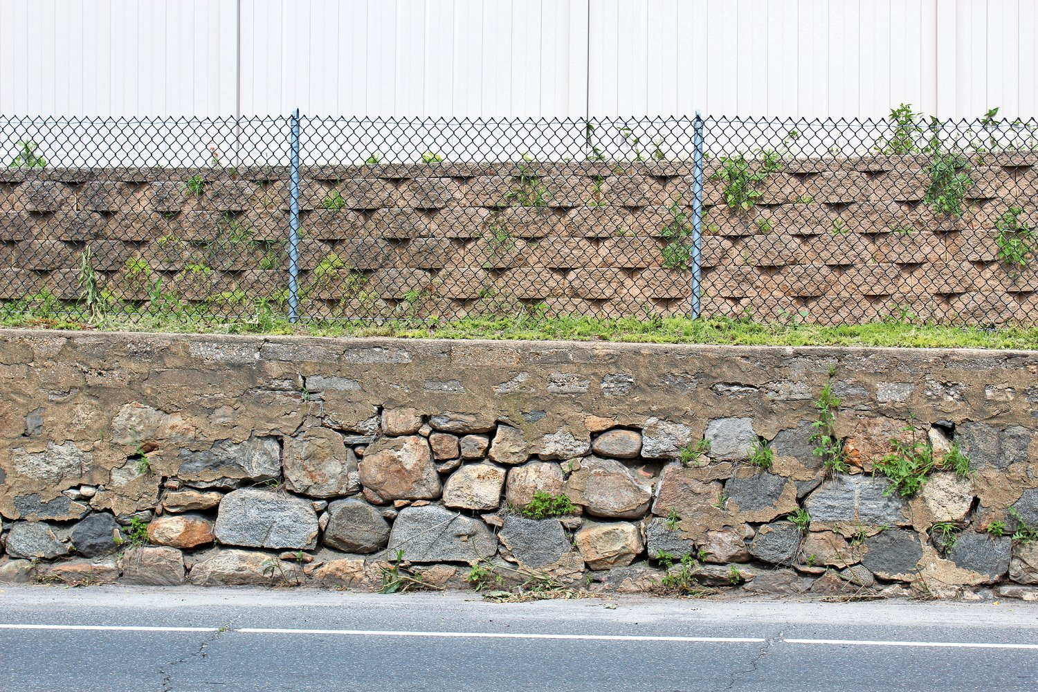 A retaining wall on Glen Cove Avenue in Glen Head appears to be deteriorating.