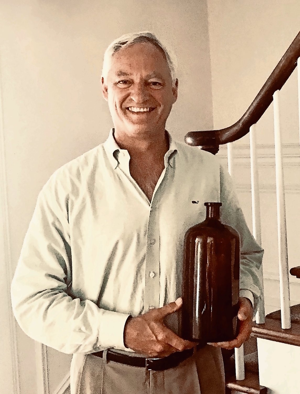 Tim Lee, who specializes in historic restoration and is one of the new owners of Snouder's, found old medicine bottles when cleaning up the building.