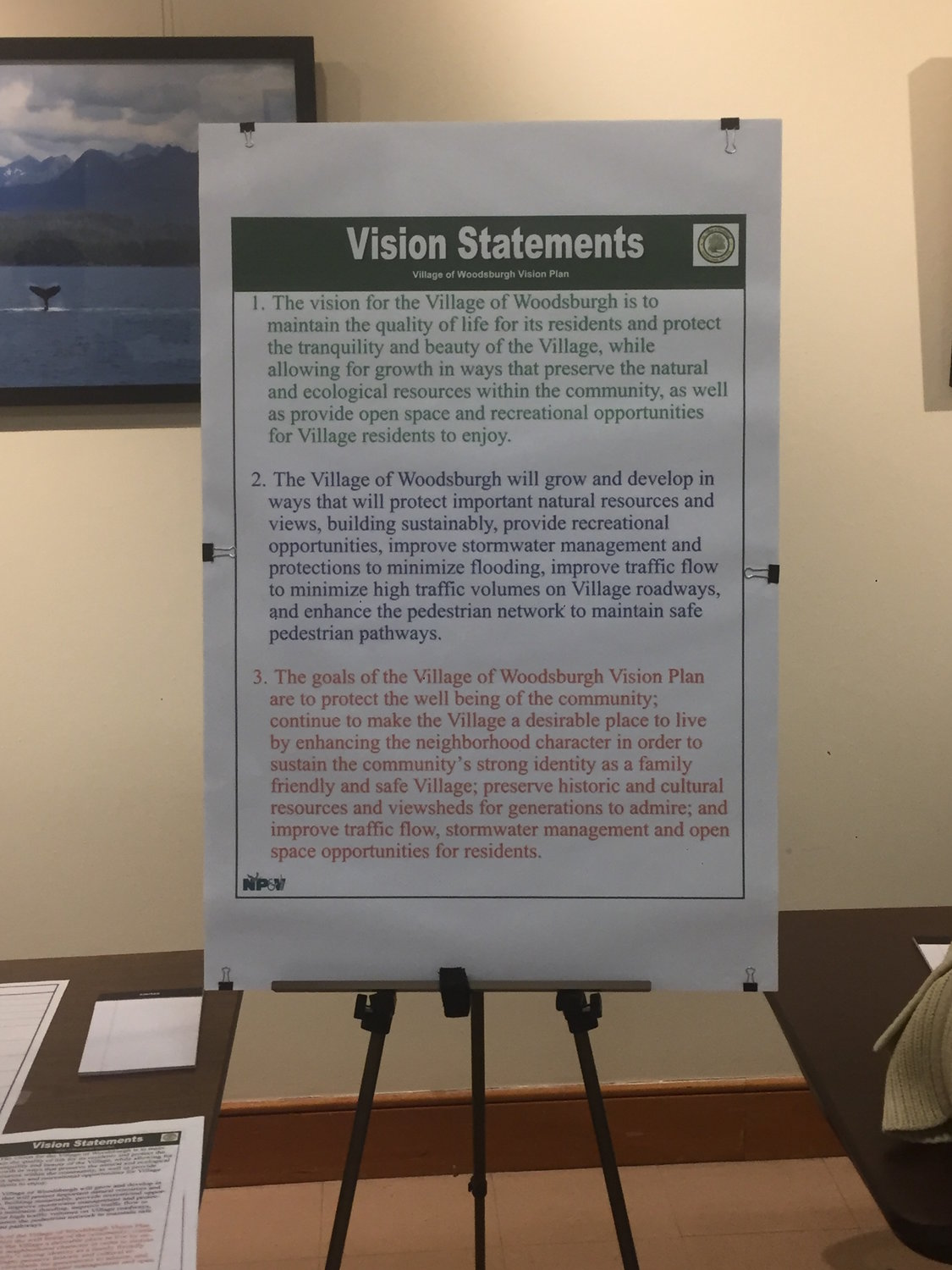 Woodsburgh village officials created the three vision statements for residents to build on through the in-person open house at Hewlett-Woodmere Public Library and the online survey.