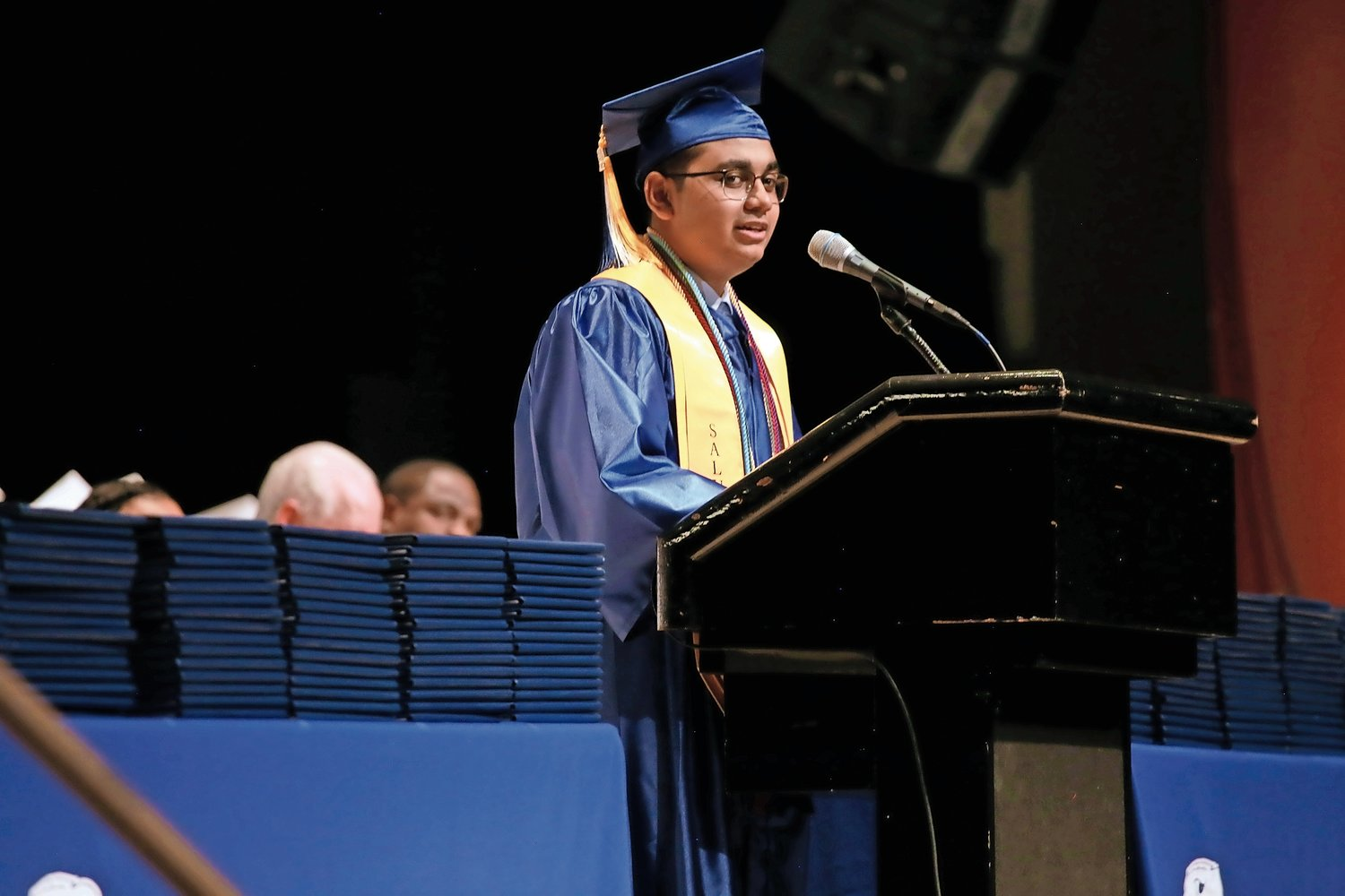 Salutatorian Nader Ahmed said graduation said they were concluding a chapter of their lives.