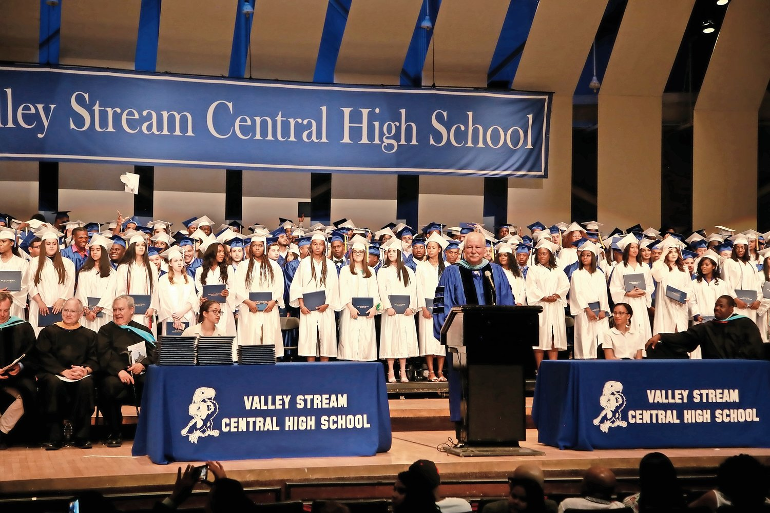Principal Joseph Pompilio presented the new graduates.