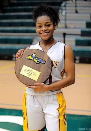 Senior Flo Hunte played a key role in Sewanhaka's run to its first-ever girls basketball county title.