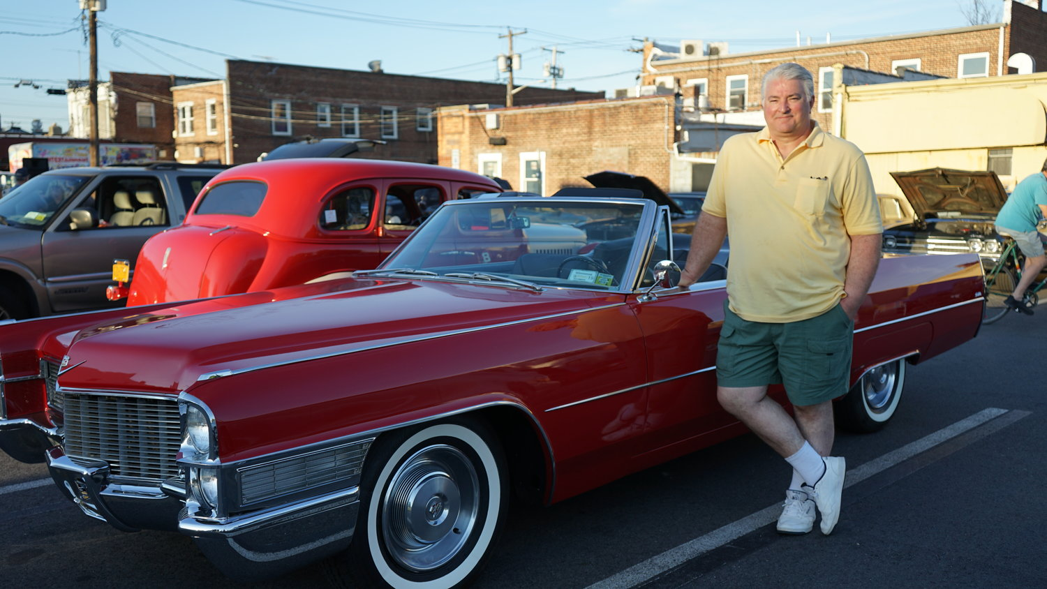 John Grande with his 1965 Cadillac DeVille
