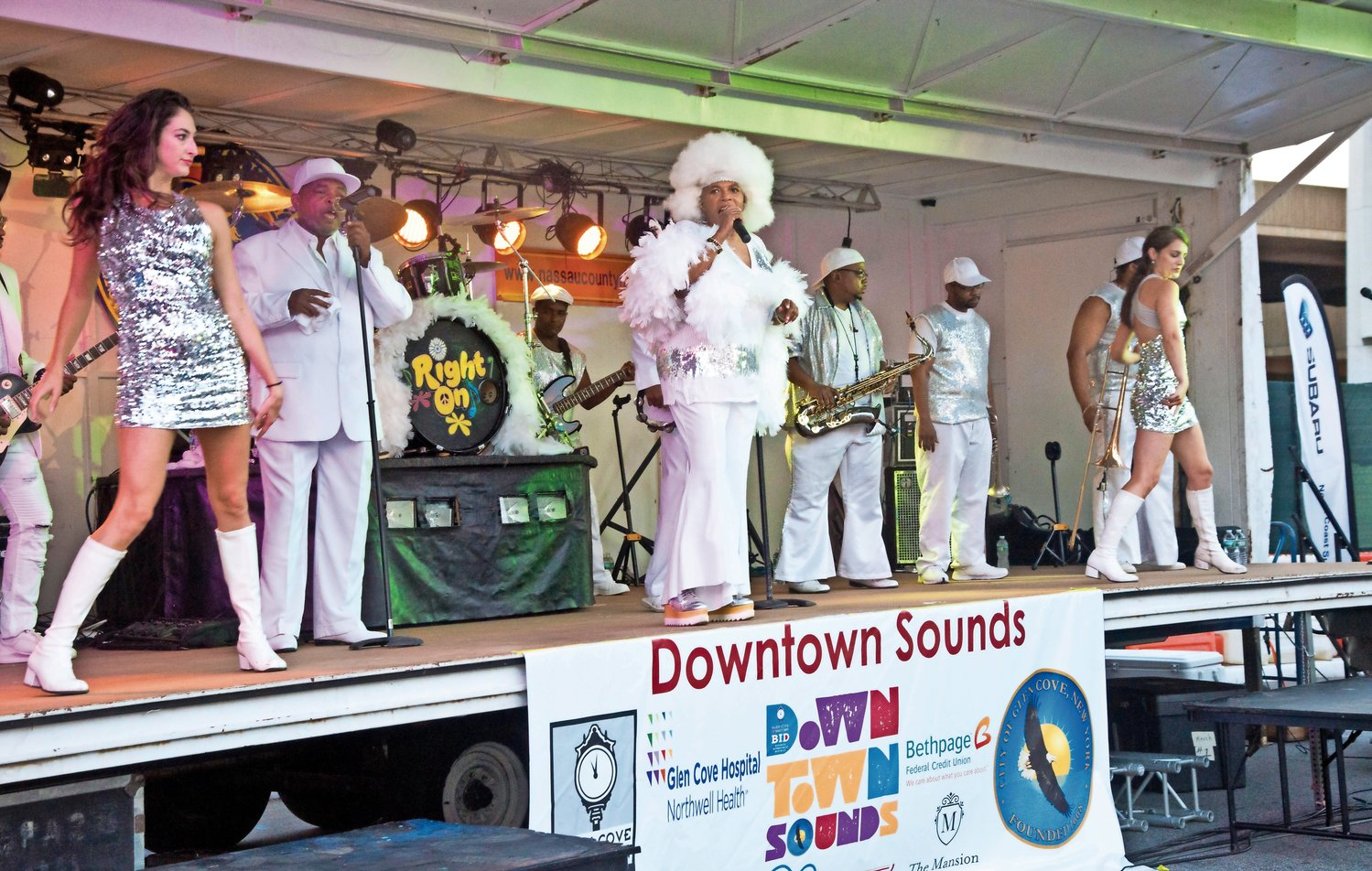 Members of Right On Band will take their fun, energetic music back to the Downtown Sounds stage on August 9.