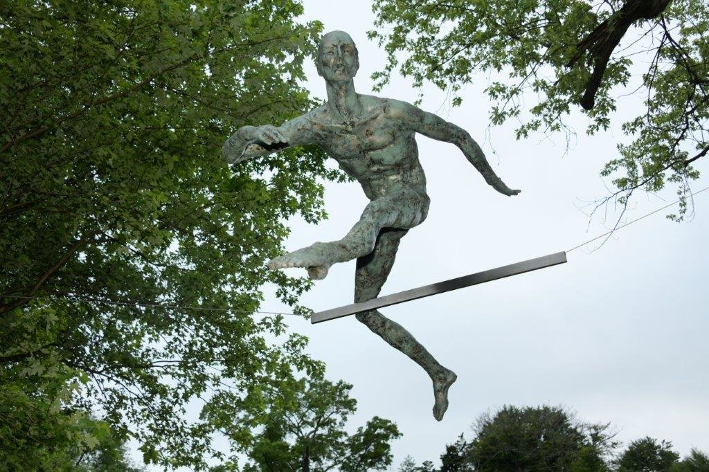 Jerzy Jotka Kedziora is able to string up his magnificent sculptures into athletic poses that defy gravity.