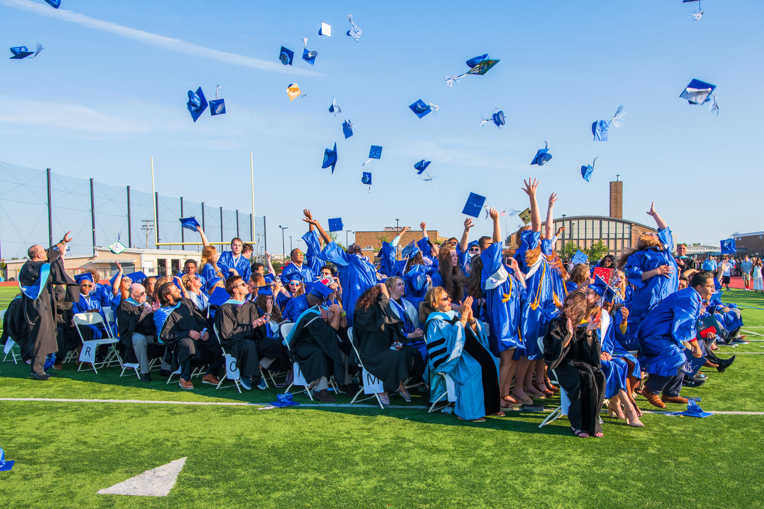The Class of 2019's 347 graduates tossed their mortarboards skyward at the conclusion of the 96th annual commencement ceremony on June 26.