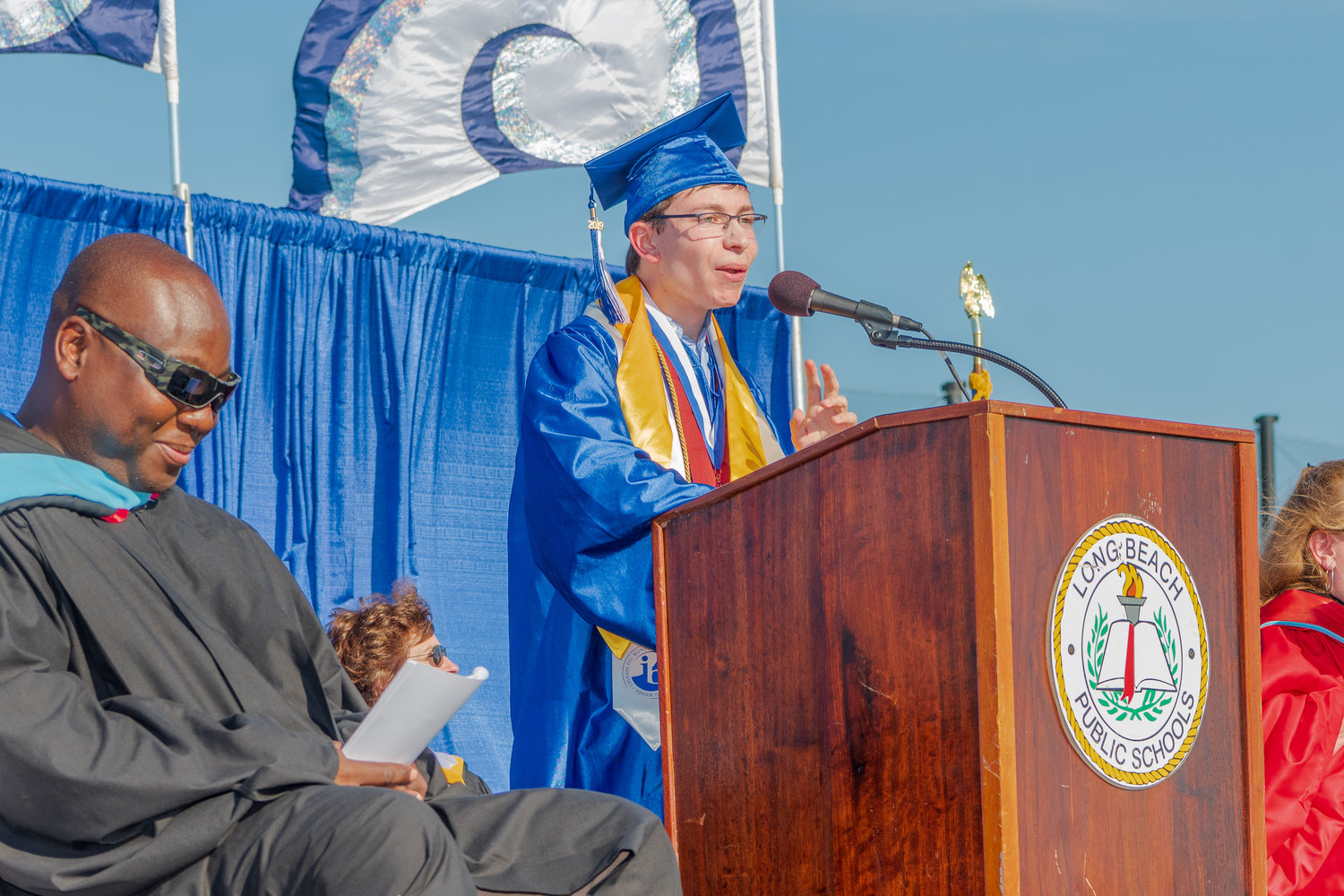 "Valedictorian Joshua Kapilian spoke about how ""success is not strictly limited to academics."""