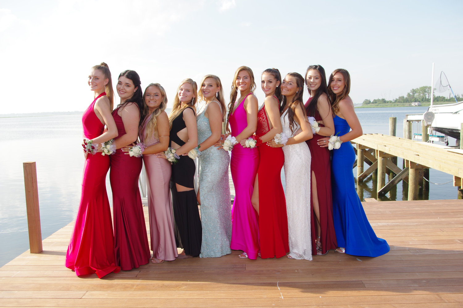 Mia Radin, far left; Nicole Grandinetti, Sammi Eduardo, Brianna Moore, Kate Salvato, Angelica Gonzalez, Fionna Rafferty, Julz Green, Kendall Parker and Jillian Canner.