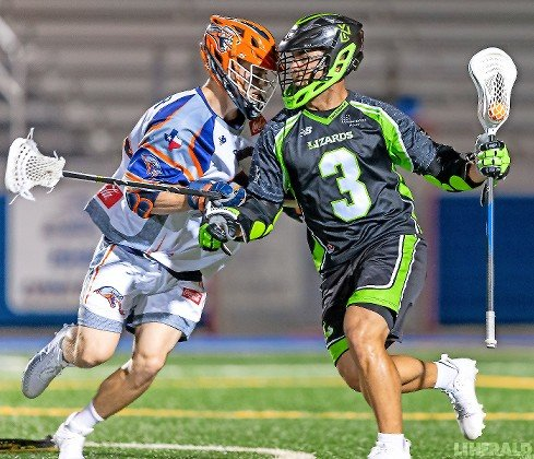 Rob Pannell, right, became the Lizards' all-time scoring leader June 29 with a five-point effort in their 13-9 victory over Dallas.