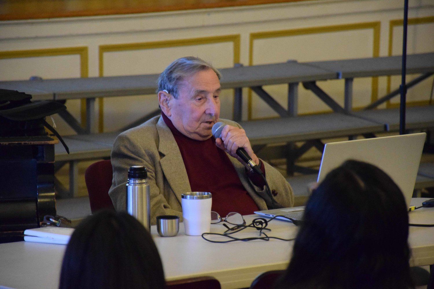Reich spoke to students about his journey and lessons that can still be learned from the Holocaust.