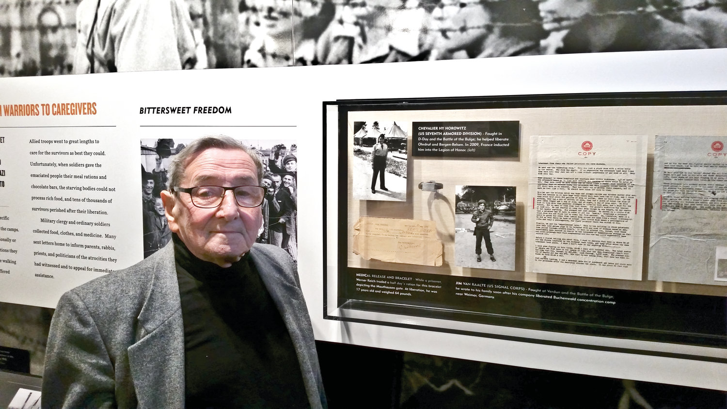 Reich has a few mementos of his past at the Holocaust Memorial and Tolerance Center in Glen Cove.