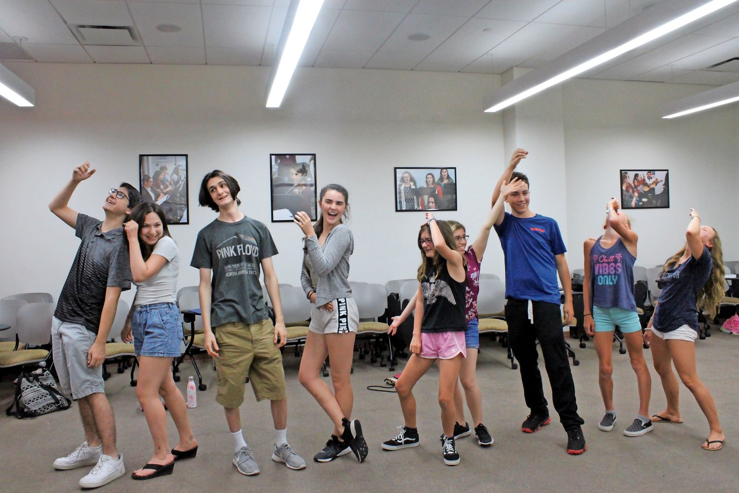 Young Oceanside performers struck a pose during their July 2 rehearsal.