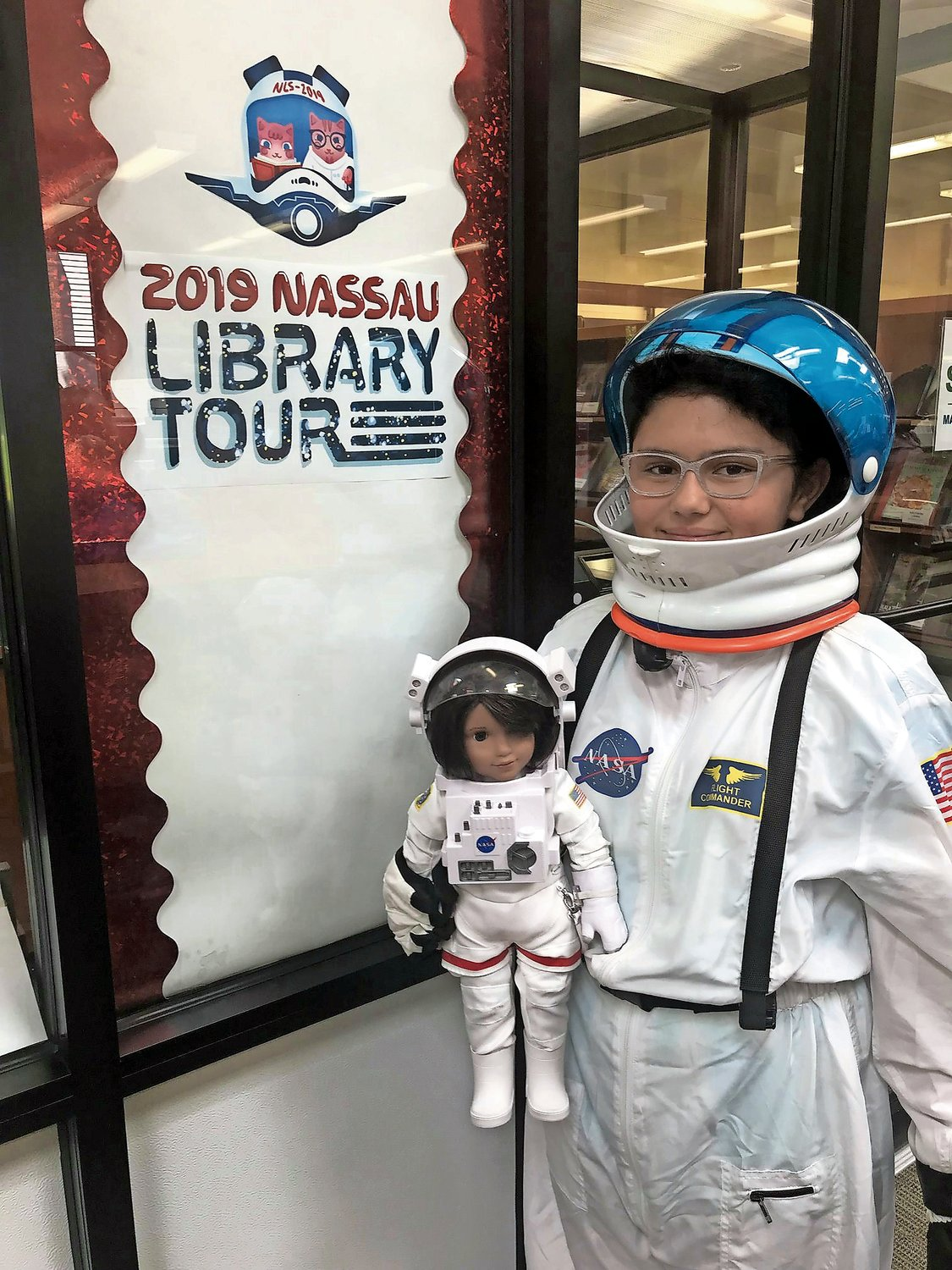 Melissa Morales, and her American Girl Doll, Luciana, visited the Henry Waldinger Memorial Library as part of the 2019 tour.