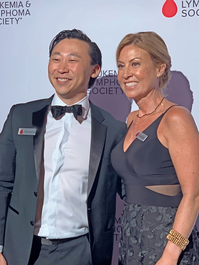 Dani Frisch Harkin, right, was joined by Man of the Year, Sahm Cho, at The Capitale in Manhattan on June 14.
