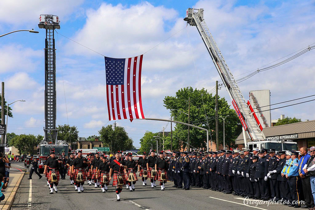 Nearly 1,000 firefighters, first responders and elected officials attended a funeral service for Michael Ornauer on July 7.