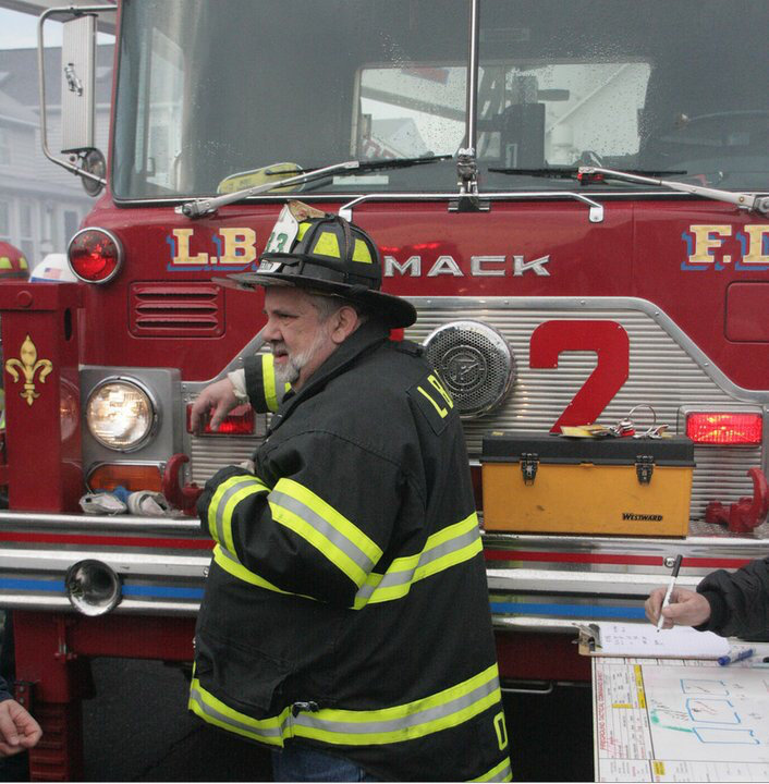 Ornauer, pictured at the scene of a fire in Long Beach in 2010, was a captain in the LBFD and served as a volunteer firefighter for 30 years.
