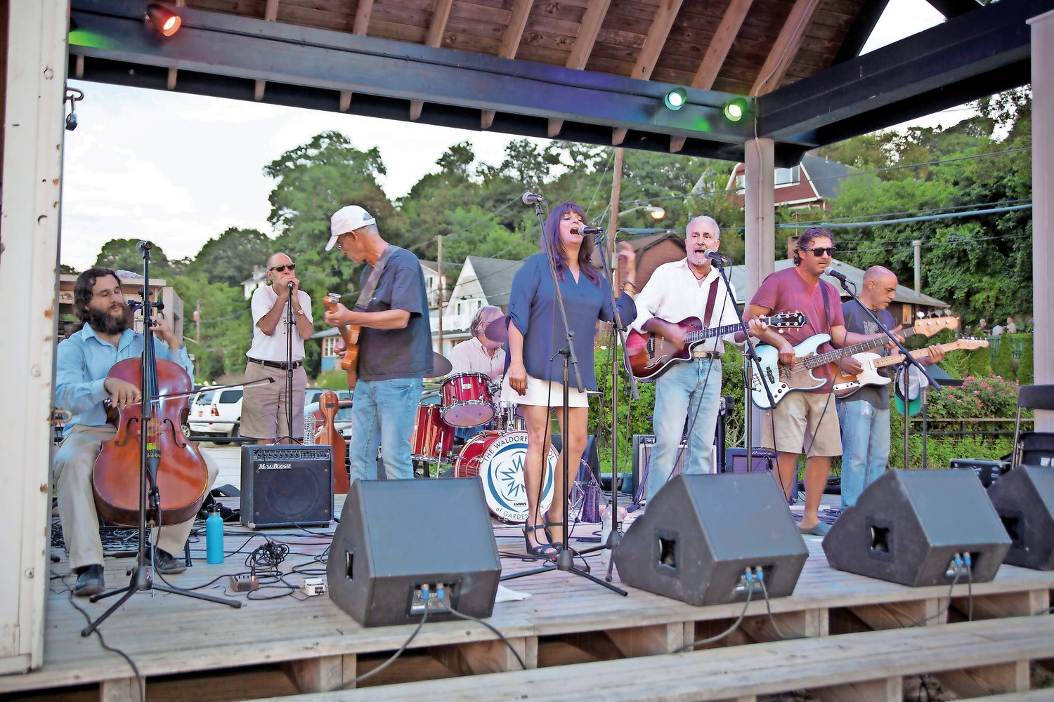 Local band The Lazy Dogs wowed the crowd at Music at the Beach.